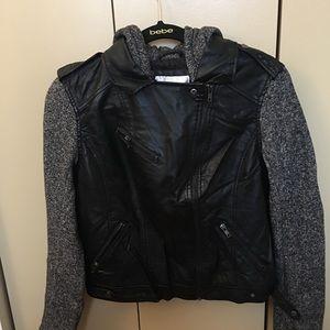 Women's Leather Hooded Jacket